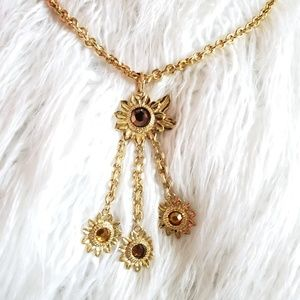 🌻Sunflower necklace Vintage